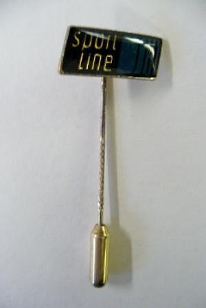 Mercedes Sport Line Pin silber, etwas angelaufen