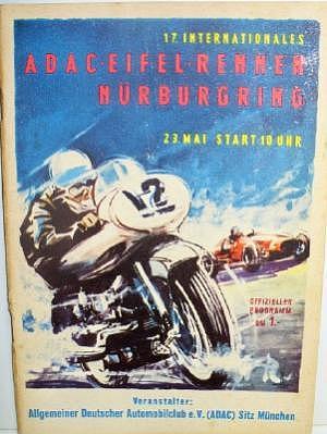 ADAC Eifelrennen Nürburgring Rennprogramm 1954