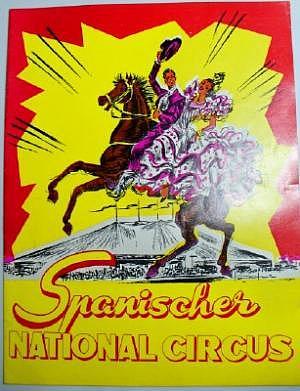 """Programmheft """"Spanischer National Circus"""" 60er Jahre"""