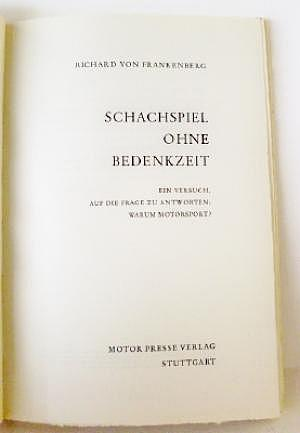 """Richard von Frankenberg """"Schachspiel ohne Bedenkzeit"""""""