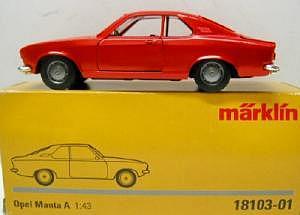 Märklin Opel Manta A 1:43 rot