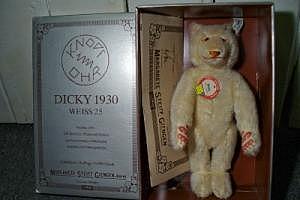 Steiff Dicky 1930 Weiß Replika 1992