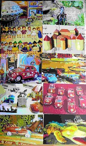 """Postkartenset """"Seltene Spielsachen"""""""