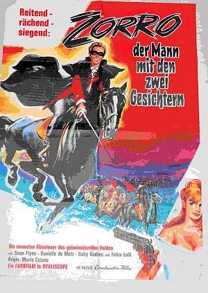 Original Filmplakat Zorro 60er Jahre