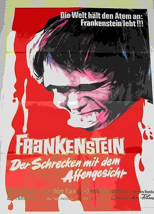 Filmplakat Frankenstein 60er Jahre