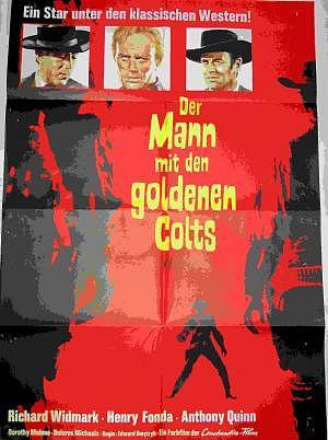 Filmplakat Der Mann mit den goldenen Colts