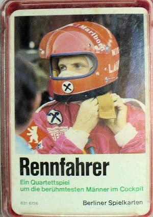 Quartett Rennfahrer von Berliner Spielkarten
