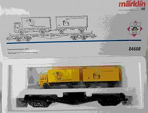 63-06 Märklin Autotransportwagen mit Wiking LKW