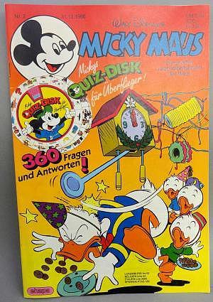 Micky Maus Nr. 2 vom 31.12.1986 mit Beilage