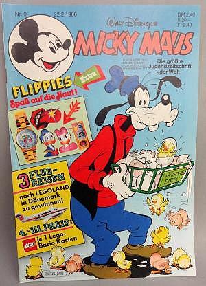 Micky Maus Nr. 9 vom 22.02.1986 mit Beilage