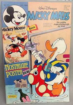 Micky Maus Nr. 11 vom 08.03.1986 mit Beilage