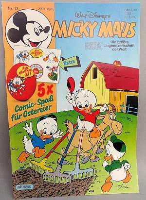 Micky Maus Nr. 13 vom 22.03.1986 mit Beilage