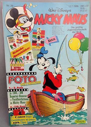 Micky Maus Nr. 29 vom 12.07.1986 mit Beilage