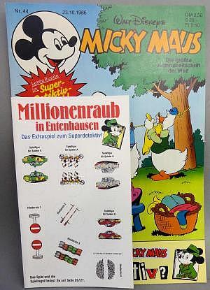 Micky Maus Nr. 44 vom 23.10.1986 mit Beilage