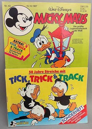Micky Maus Nr. 43 vom 15.10.1987 mit Beilage