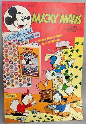 Micky Maus Nr. 25 vom 15.06.1988 mit Beilage