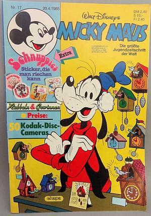 Micky Maus Nr. 17 vom 20.04.1985 mit Beilage
