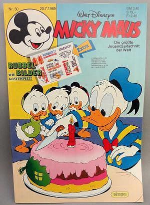 Micky Maus Nr. 30 vom 20.07.1985 mit Beilage