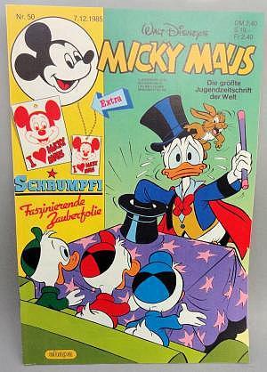 Micky Maus Nr. 07.12.1985 mit Beilage