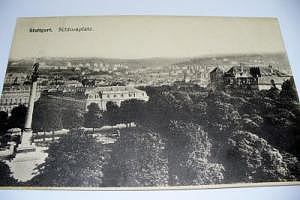 7000 Stuttgart Schloßplatz um 1916