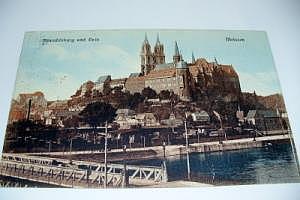 Meissen Albrechtsburg und Dom um 1910