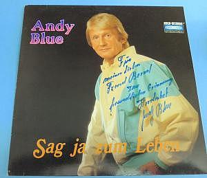 """LP Andy Blue """"Sag ja zum Leben"""", signiert"""