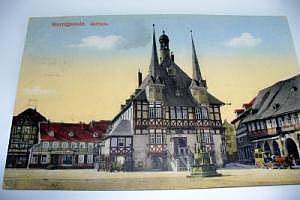 Wernigerode Rathaus um 1899