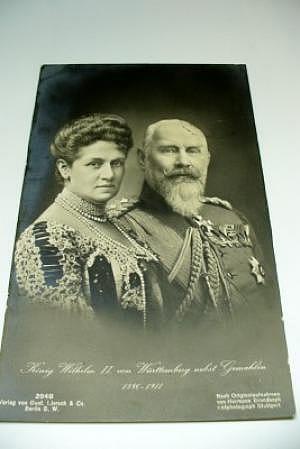 König Wilhelm II. von Württemberg mit Frau
