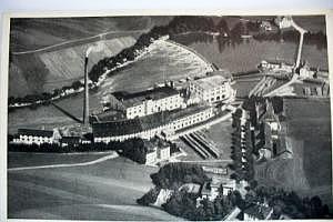 8961 Hegge bei Kempten im Allgäu, Papierfabrik Hegge um 1930