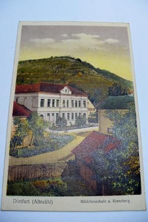 8831 Dietfurt Mädchenschule und Kreuzberg um 1930