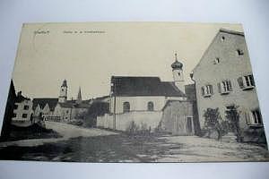 8831 Dietfurt Partie mit dem Krankenhaus um 1920