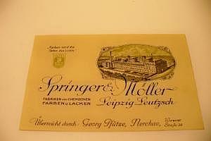 "Nerchau Werbekarte ""Springer & Möller"" um 1900"