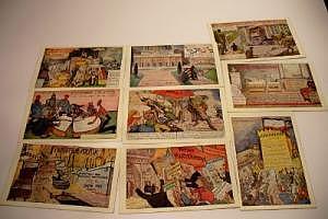 """Propagandakarten """"Das Zentrum"""" um 1910 (9 Stück)"""