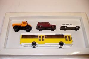 Mercedes-Benz Set 90er Jahre (gelber Bus/ Unimog)