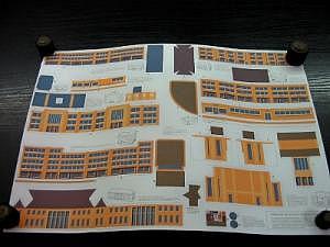 Gebäudeausschnittbogen passend zum Straßenplan I in N
