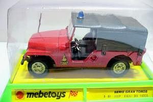 "Jeep ""Feuerwehr - Vigili del Fuoco"" von Mattel Mebetoys"