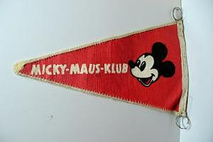 Micky-Maus-Klub Wimpel 60er Jahre