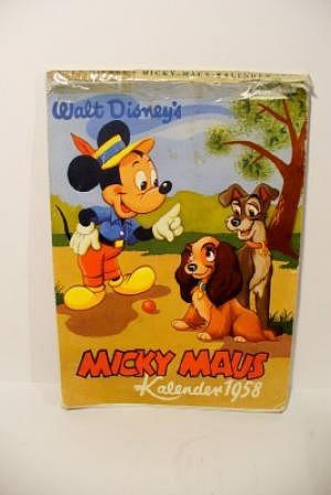 Micky Maus Kalender 1958, Original!!!